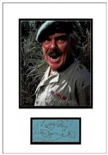 Windsor Davies Autograph Signed Display - It Ain't Half Hot Mum